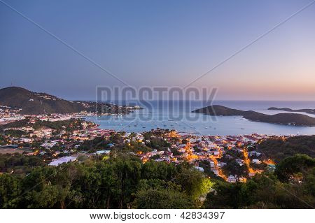 Sunset Over Charlotte Amalie St Thomas