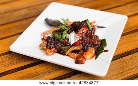 Fried Shrimp In Thai Chilli Paste Sauce