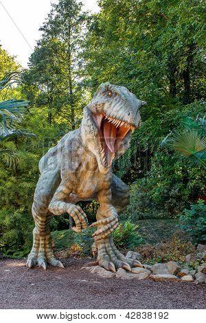 VYSKOV/CZECH REPUBLIC - AUGUST 19 - Realistic model of hungry big Tyranosaurus Rex, August 19,  2012
