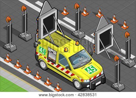 Isometric Roadside Assistance Van