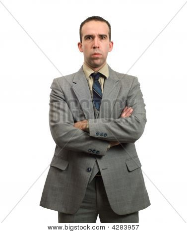 Stern Businessman