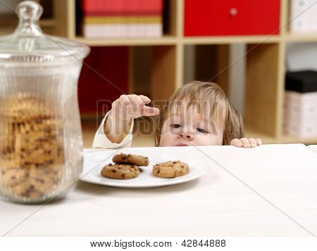 Little Boy Stealing Cookies