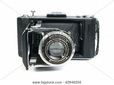 Old Vintage Camera White Isolated