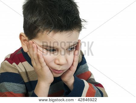 Sad Child Has Problems