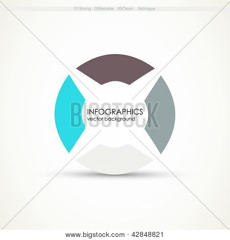 Modern Design template. Web design. One two three four - vector paper progress steps