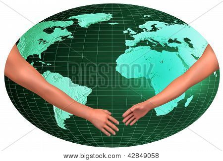 Handshake Over World