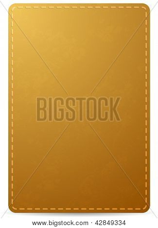 Vector brown notebook cover page with leather texture, isolated on white background