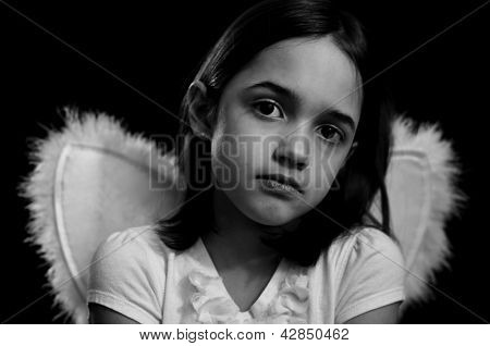 Monochrome Portrait of Little Angel