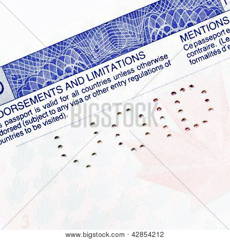 Void Canadian Passport