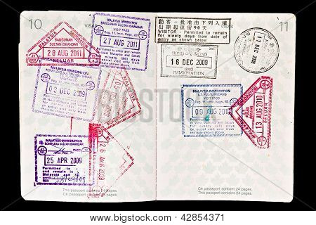 Malaysia Visa Stamps In Passport
