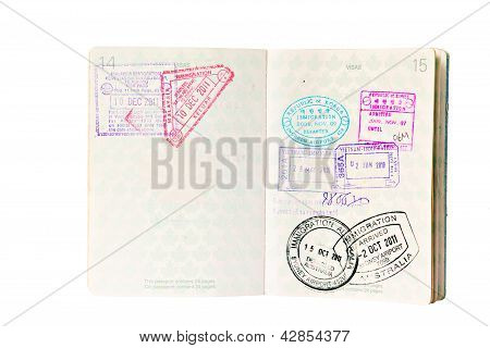 Immigration Stamps In Canadian Passport