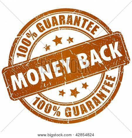 Money back vector stamp