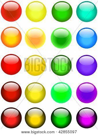 Botones brillante