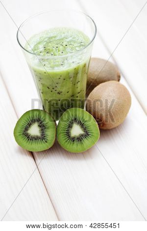 fresh and delicious kiwi shake - fruits and vegetables
