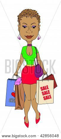 Sexy Shopping Lady
