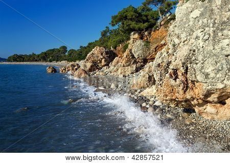 Mediterranean Coast Near Kemer, Turkey