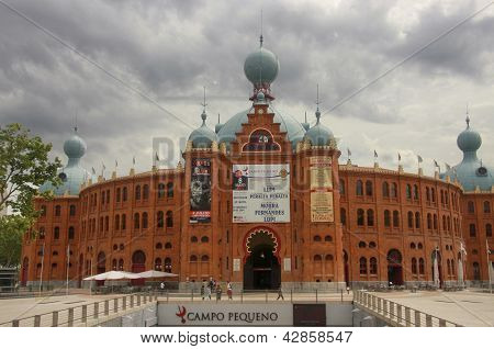 Lisbon, Portugal - May 7, 2008: Portugal Campo Pequeno Bullring In Lisbon On May 7, 2008. After Exte