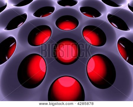 Abstract High-tech Structure. 3D Rendered Image.