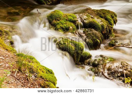 Small Forest Cascade Horizontal Shot, Krka National Park, Croatia