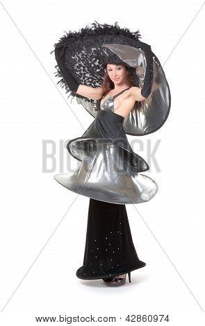 Woman In Haute Couture Fashion