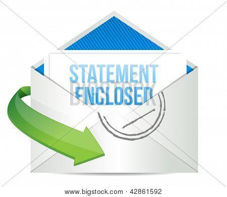 Statement Enclosed Envelope Mail Correspondence