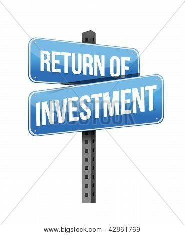 Return Of Investment Sign