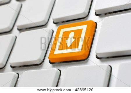 Orange Download Button