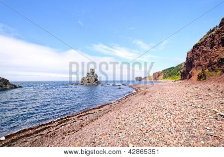 Distinctive Rocks On A Remote Coastline