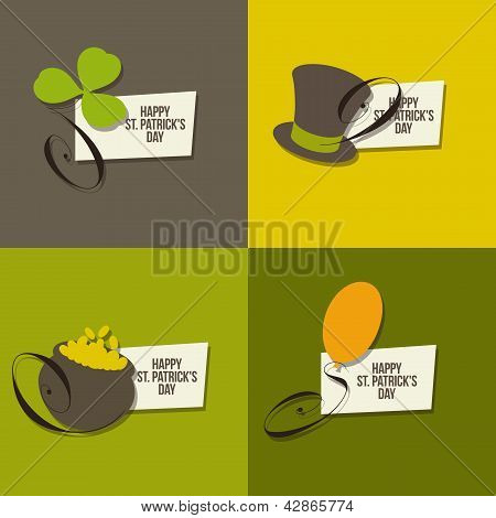 St. Patrick's Day Symbols. Set Of Vector Illustrations