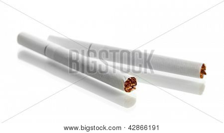 Cigarettes, isolated on a white