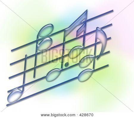 Music Bars & Notes - Soft Pastel
