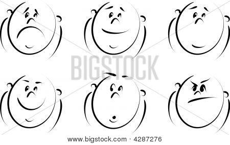 Cartoon Emotions Set