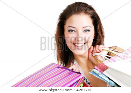 Beautiful  Portrait Young Happy Woman