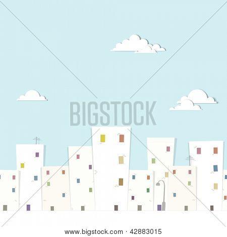 urban landscape. vector seamless pattern