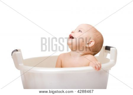 Baby Having Bath