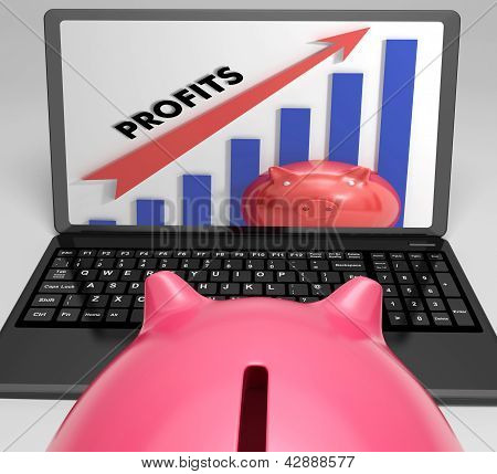 Profits Increasing Graph Shows Growth And Earnings
