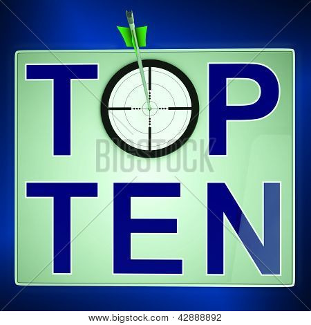 Top Ten Means Best Rated In Charts