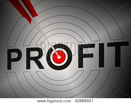 Profit Shows Financial Growth Earning Revenue