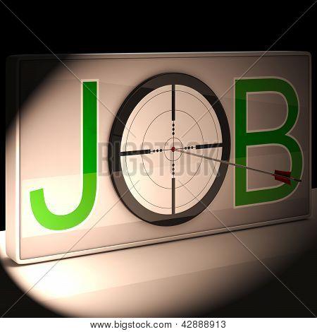 Job Target Shows Work And Career Vocation