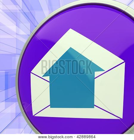 E-mail Symbol Shows Message Outbox Envelope Communication