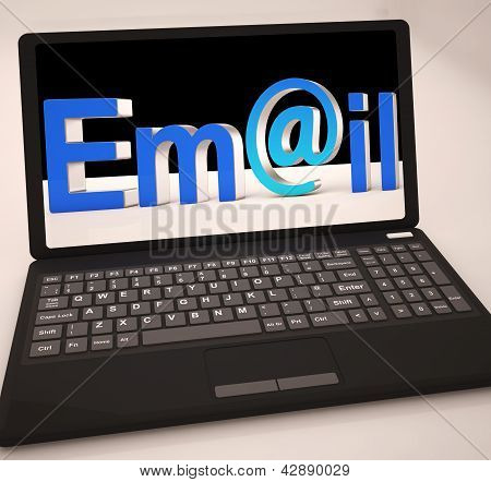 Email At Laptop Showing Inbox