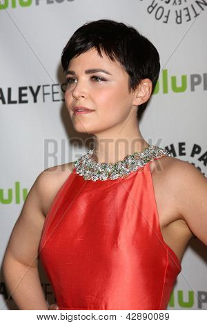 "LOS ANGELES - MAR 3:  Ginnifer Goodwin arrives at the  ""Once Upon A Time"" PaleyFEST Event at the Saban Theater on March 3, 2013 in Los Angeles, CA"