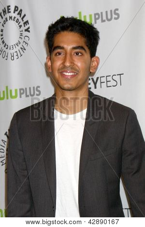 "LOS ANGELES - MAR 3:  Dev Patel arrives at the  ""Newsroom"" PaleyFEST Event at the Saban Theater on March 3, 2013 in Los Angeles, CA"