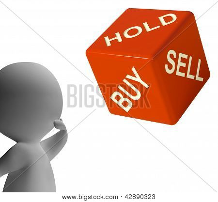 Buy Hold And Sell Dice Represents Stocks Strategy