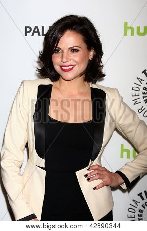 "LOS ANGELES - MAR 3:  Lana Parrilla arrives at the  ""Once Upon A Time"" PaleyFEST Event at the Saban Theater on March 3, 2013 in Los Angeles, CA"