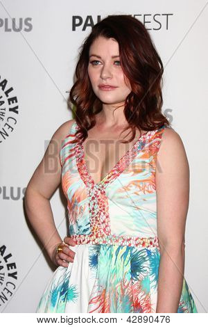 "LOS ANGELES - MAR 3:  Emilie de Ravin arrives at the  ""Once Upon A Time"" PaleyFEST Event at the Saban Theater on March 3, 2013 in Los Angeles, CA"