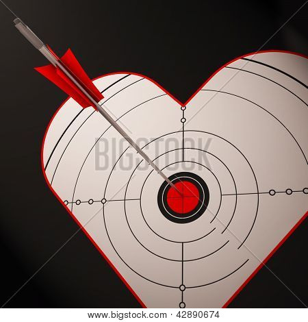 Heart Target Shows Successful Romance