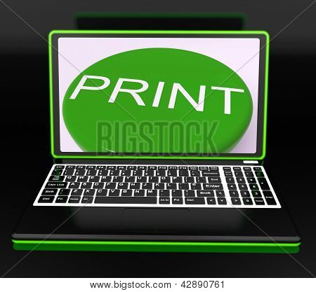 Print On Monitor Showing Printer
