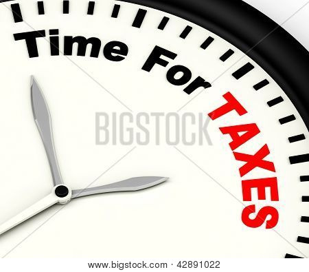 Time For Taxes Message Showing Taxation Due