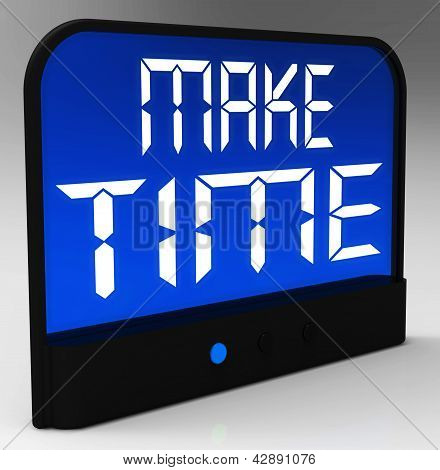 Make Time Clock Showing Scheduling And Planning